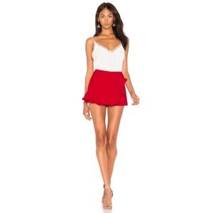 Amanda Uprichard Trisha Skort Red Small